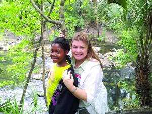 Elisabeth Butterfield, right, spends some time with her 'Little,' Chelsea, during a recent nature hike. Butterfield joined Big Brothers Big Sisters last year, and has become, more or less, part of Chelsea's extended family. (Photo courtesy of Elisabeth Butterfield)