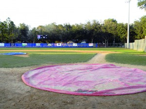 The baseball diamond at the Oscar Cooler Sports Complex is empty of ballplayers right now. But when it reopens in 2014, it will no longer be Little League players on the field, but instead members of the Babe Ruth League. (Photo by Michael Hinman)