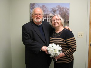 Robert and Carlene Messer at their Nov. 26, 2013 wedding.