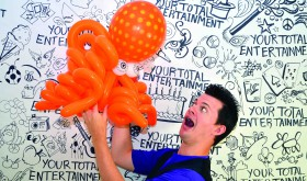 With around 20 years experience, Jonathan Fudge isn't afraid to tackle any balloon project.