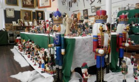 Nutcrackers of all sizes are just part of the Christmas decorations at the Old Lutz School. (Michael Murillo/Staff Photo)