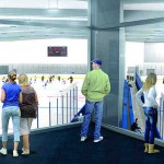 Florida Hospital Center Ice skates into view