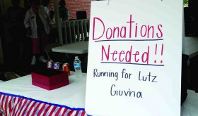 The cash grab for the Lutz Guv'na race was already in full swing at the debate back in May. Now, the three candidates are ramping up the fundraising as the July Fourth deadline looms.  (MIchael Murillo/Staff Photo)