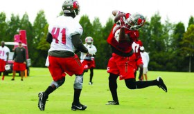 On select days in August, you can see the Buccaneers practice and not pay a penny.  (Courtesy of Buccaneers.com)