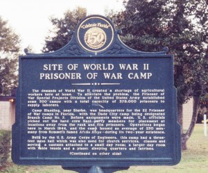 The story of the German prisoners of war who lived in Dade City is recorded on this historic marker. (Courtesy of Fivay.org)