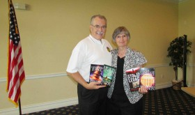 Local authors Diane and David Munson recently gave a talk at a luncheon meeting of the Lutz Rotary Club (B.C. Manion/Staff Photo)