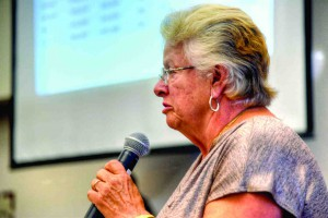 Dade City resident Judy Geiger spoke during public comment at the Aug. 10 charter panel meeting. She opposes charter government.