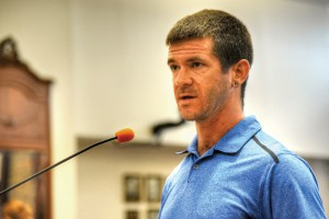 Dade City resident and professional cyclist Josh Thornton spoke in support of a Pasco recreational trail, and a proposal to build a loop from two separate trails. (Photos courtesy of Richard Riley)