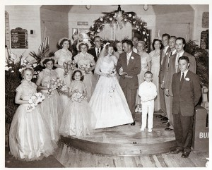 This is the wedding party at Hazel Nalls' wedding in 1954. Since then, her son was married at the church, and this August, her grandson will be married there, too. (Courtesy of Hazel Nalls)