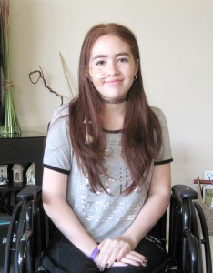 Fifteen-year-old Natalia Rijos has been diagnosed with Complex Regional Pain Syndrome. It's a condition that is characterized by prolonged pain that may be constant and, in some people, extremely uncomfortable or severe. (B.C. Manion/Staff Photo)