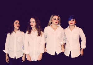 Extra Celestial was formed in August. From left, Annabella Vivero, Caitlin McHale, Casey Banales and Devyn Dacus. (Courtesy of Marlene Fox Photograph)