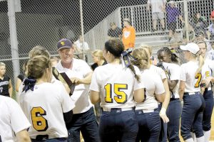 Head Coach Mitch Wilkins has led the Gators to two straight 20-win seasons. The team will compete in the Class 6A FHSAA regionals, starting April 20. (Courtesy of Land O' Lakes Football)
