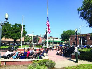 More than 100 law enforcement officers and dozens of citizens were present for the memorial service.