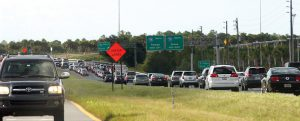 Vehicles stack up near ramps onto and off Interstate 75 in Pasco County. The interchange is near Tampa Premium Outlets and an active development area for new shops and restaurants. Supporters of Tampa Bay Express hope the transportation project will ease congestion. (File Photo)