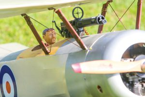 In most cases, a uniquely crafted model pilot mans the model airplane's controls, adding to an even greater sense of realism to the already meticulously detailed airplanes.