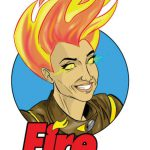 Female firefighter inspires superhero comic
