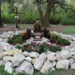 Creating an outdoor place to pray the rosary