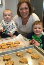Learning how to 'crisscross' cookies with Grandma