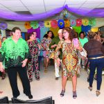 Evening serves up belly dancers, the Macarena, food and prizes