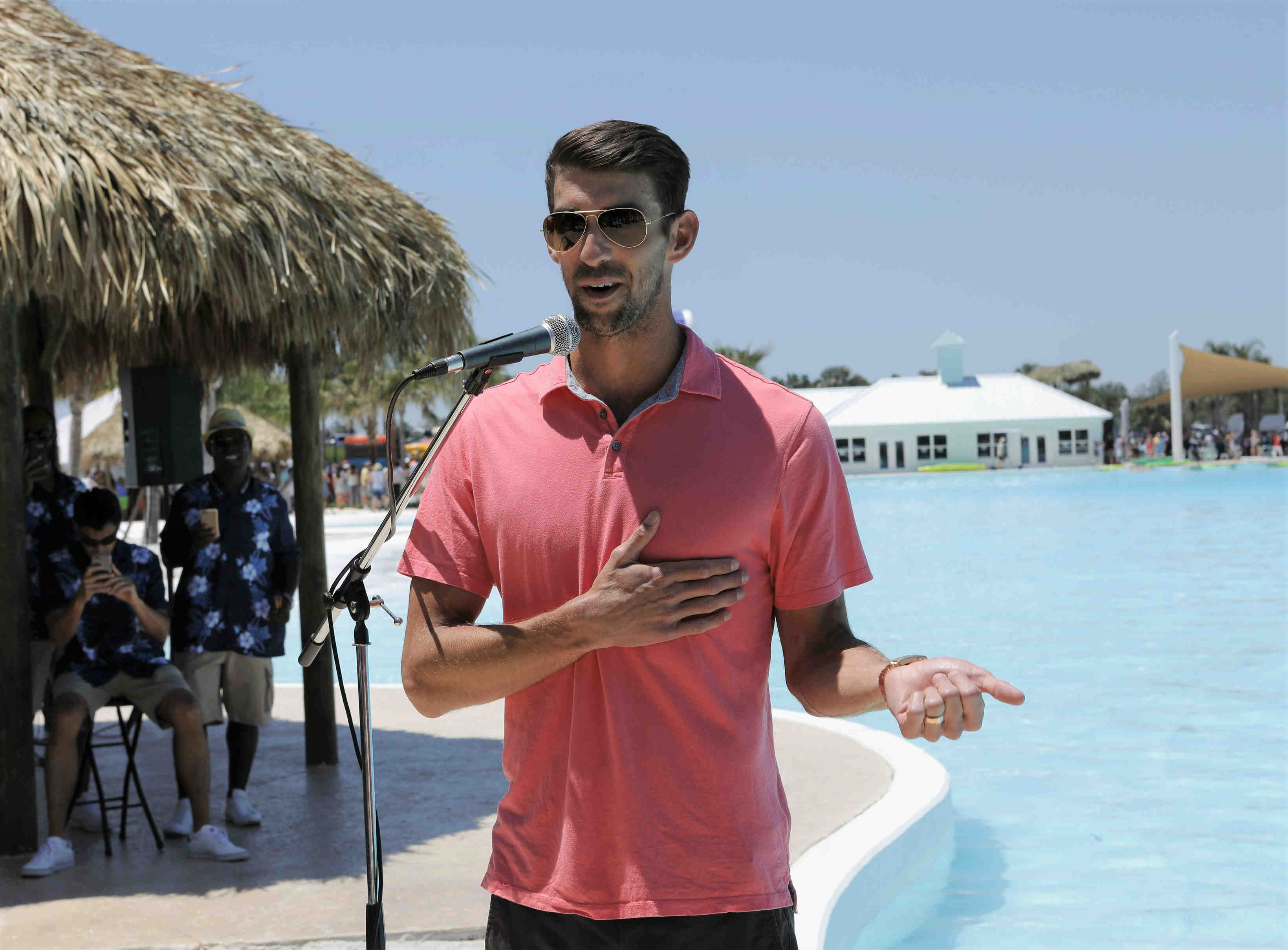 Crystal Lagoon debuts with a splash — from Michael Phelps