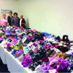 Donate new shoes and skate onto the Center Ice rink