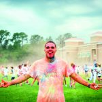 Hundreds battle it out, using color as their weapon of choice