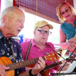 They jam on ukuleles — making music and new friends