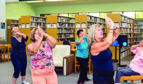 Learning some Tai Chi moves at the library