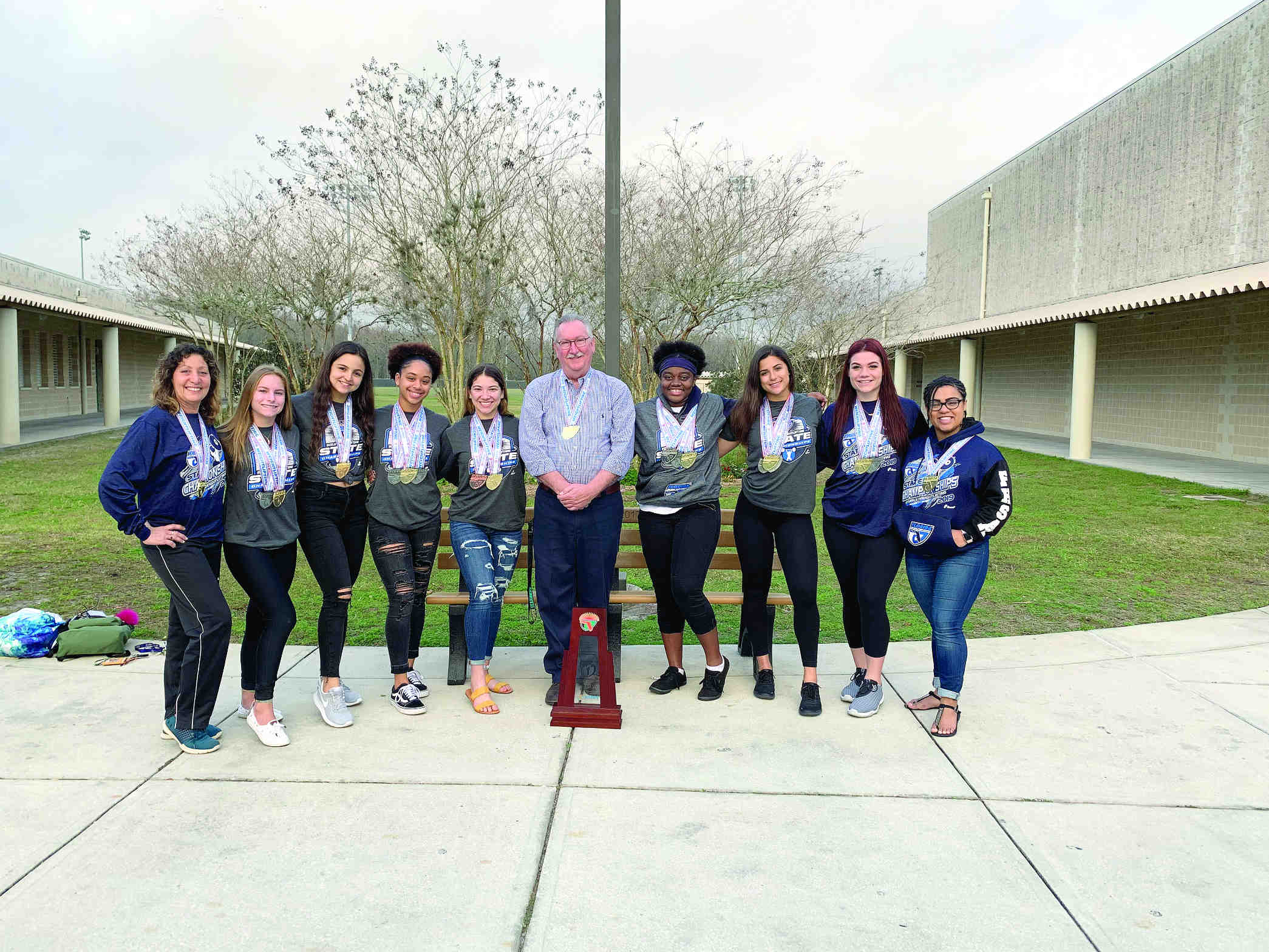 Sunlake Girls Weightlifting Celebrates State Title