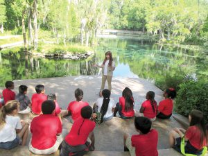 Kaitlyn Greenough, the Florida Wildlife Federation's Youth Conservationist of the Year for 2016, taught a class on water conservation at Crystal Springs Preserve.