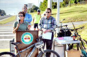Dade City Mayor Camille Hernandez, left, called the trail's completion 'a celebration of vibrancy.'